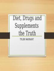 Diet Drugs and Supplements the truth