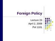 L23 Foreign Policy