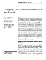 RM-3 Developing a unified framework of the business model concept.pdf