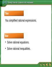 8.6 Solving Rational Equations and Inequalities.ppt
