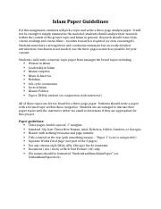 Islam Paper Guidelines Online.docx
