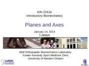 Lecture 5 Planes and Axes 140115
