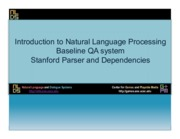 Lecture 15 - Stanford Dependencies