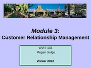 Module 3 Customer Relationship