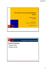 Week 5 Choice of Accounting Methods; Ethics_2 slides per page