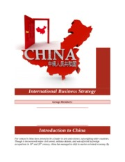 China - country profile Report