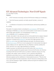 GT Advanced Technologies non GAAP signals