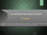 An Individual Experiment by Cassie