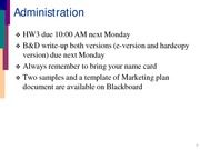 Mgmt 324 Notes (Marketing Strategy pt 2)