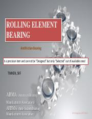 Lecture 8 - Anti-friction Bearing