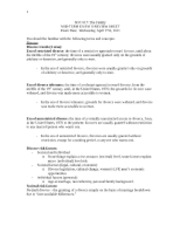 ExamII ReviewSheet