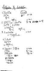 calc integration by substitution notes