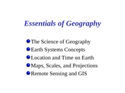 1 geography essentials notes