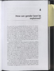 How can gender best be explained _Holmes