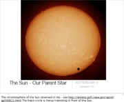 Lecture 14 - The Sun - Our Parent Star