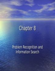 Chapter 8 Problem Recognition and Search