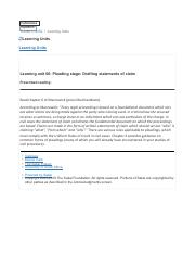 Learning unit 06- Pleading stage- Drafting statements of claim.pdf