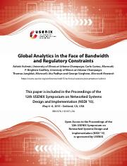 Lec14 - Global Analytics in the Face of Bandwidth and Regulatory Constraints, Vulimiri et al, NSDI,
