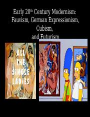 21+Fauvism+_+Early+20th+Century+Modernisms.ppt