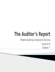 Auditors Report Chapter 7.pptx