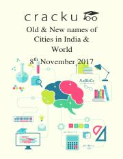 Old and New names of Cities in India.pdf
