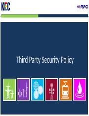 Third Party Security Policy v1.0