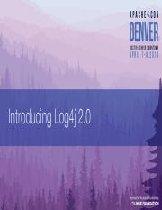 Intro to Log4j 2.0