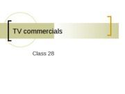 tv commercials ppt