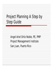 Project Planning A Step by step
