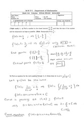 Math 119 2008-2009 Spring Final Exam Solutions