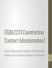 UGBA2233_CCAI_3b_-_Factors_Influencing_the_Selection_of_Procurement_Methods_and_Comparison