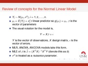 Normal Linear Model Notes