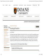 Program: Paralegal Studies - Doane College - Acalog ACMS™