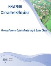 Lecture 8-Group influence,opinion leadership,Income&Social class.ppt