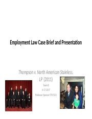 Employment Law Case Brief and Presentation wk 5 (1)