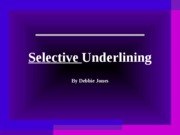 selective_underlining