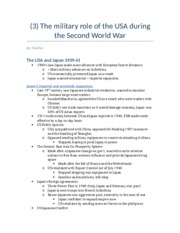 (3) The military role of the USA during the Second World War