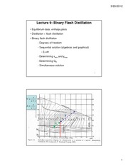 Lecture 9 Binary Flash Distillation-updated 2012