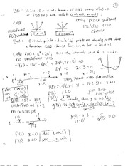 Reletive Extrema, Higher Derivatives and Concavity