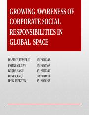 GROWING AWARENESS OF CORPORATE SOCIAL RESPONSIBILITIES IN GLOBAL SPACE.pptx