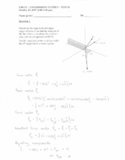 Statics Term Test 1 - Oct 2007