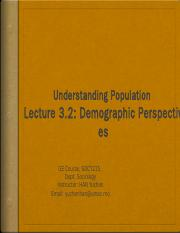 Lecture 3.2-Demographic Persepectives