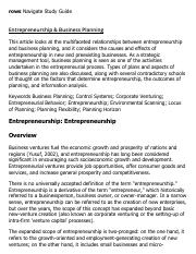 Entrepreneurship & Business Planning Research Paper Starter - eNotes.pdf