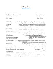 (FINISHED) Mock Resume- Module 5- Human Relations.docx