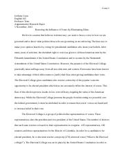 Argumentative Research Paper