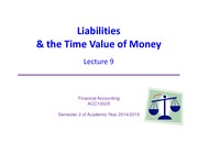 Lect9 - Current Liabilities & Time Value