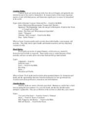 ENG 155 Cosmic Myths Worksheets