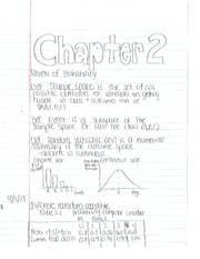 Econometrics Chapter 2 notes