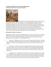 Leadership Qualities of George Washington.docx