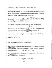 Conditional Property - Completed Lecture 5 Handwritten Notes